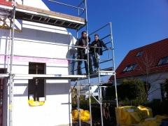 Die Bauherren und der Zimmermann